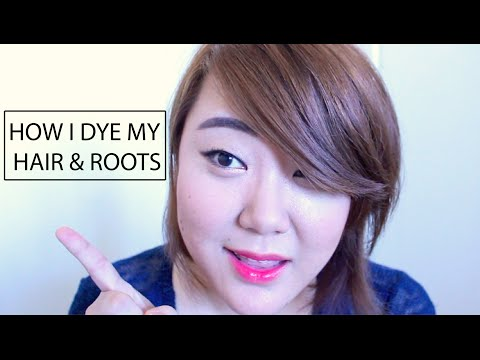 How I Dye My Hair & Roots [Light Chestnut Brown Color]