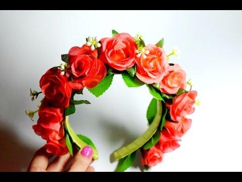 Ободок своими руками розы