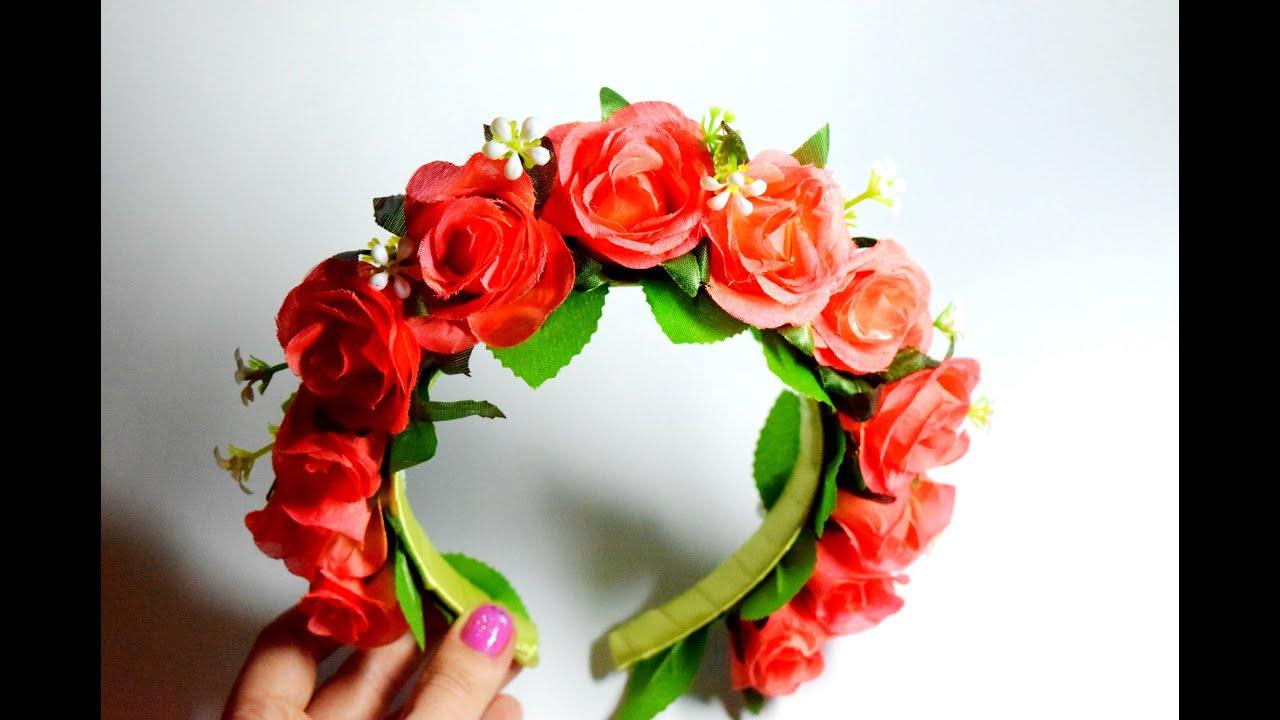 Венок своими руками с цветов