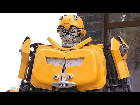 Стоматолог из Талгара собрал роботов-трансформеров из автохлама (12.09.17)