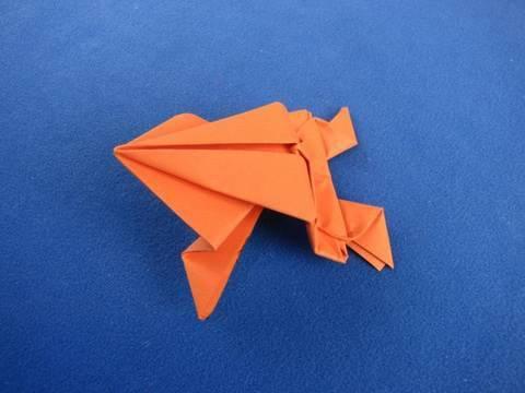 Origami Frog , ranocchia salterina 折り紙