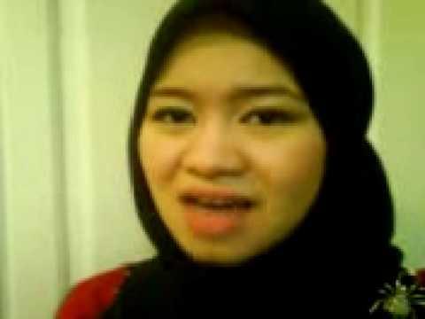 "singing a poem - ""greetings of peace"" in malay language - salam damai"