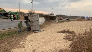 Grain Truck Rollover Accident - Part 2 (Clean Up)