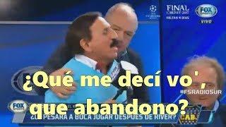 """Leto caliente casi a las piñas con Palacios, periodista de River, """"porque abandonó"""" y van al corte"""