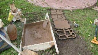 Тротуарная плитка своими руками из подручных материалов 76