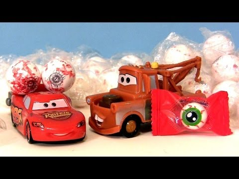 Halloween Candy Spooky Eyes Scary EyeBalls With Disney Pixar Cars Lightning M