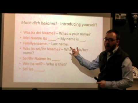 PA Dutch 101: Video 2 - Greetings and Introductions.m4v