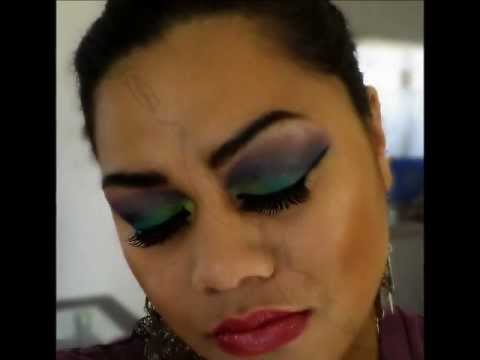 Colorful Arab Bridal Makeup
