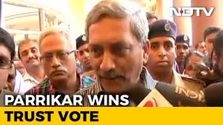 Chief Minister Manohar Parrikar Wins Goa Trust Vote