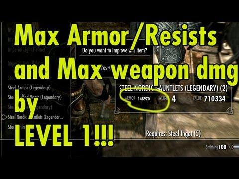Max Armor/Resists/Dmg by level 1 - Skyrim