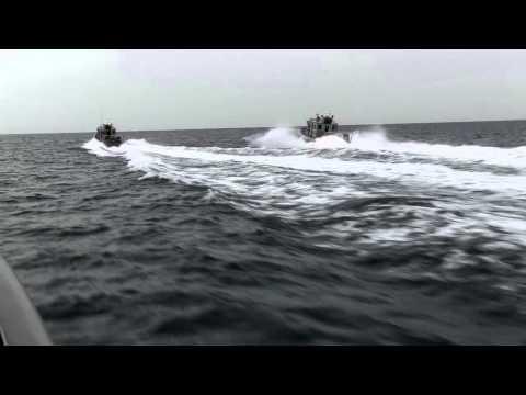 Coast Guard Multiple High-Speed Boat Pursuit Drills