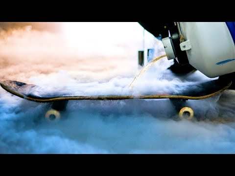 CAN LIQUID NITROGEN BREAK A SKATEBOARD?!