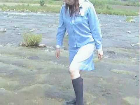 Japanese WET movie in the river.( DVD's sample movie )