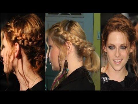 Peinado Inspirado en Kristen Stewart  recogido con trenza francesa Crepusculo Tw