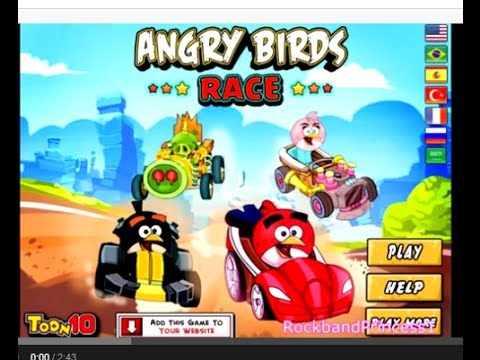 Free Angry Birds Race Car Game