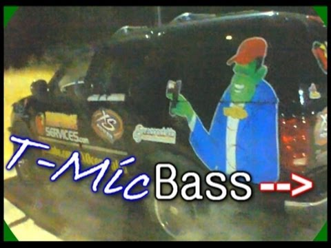 Bong Rips Bass Demo w/ 4 AudioQue HDC4 Subwoofers | AQ 3500d & 2200d Amps | Loudest T-Mic Beats Song
