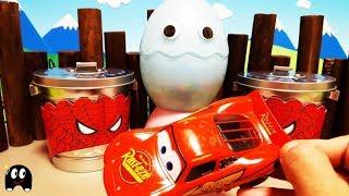 Cars Spiderman Surprise Eggs! Surprise Toys  Unboxing
