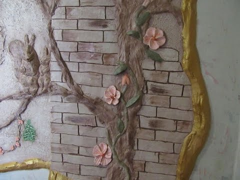 Дерево на стене из папье-маше своими руками 35