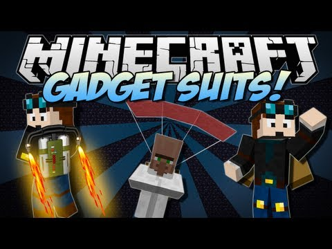 Minecraft   GADGET SUITS! (Jet Packs. Helicopter Hats & More!)   Mod Showcase [1.6.2]