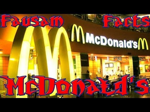 Fausam Facts about McDonalds