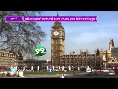 Mahatma Gandhi Statue in Front of British Parliament - 99tv