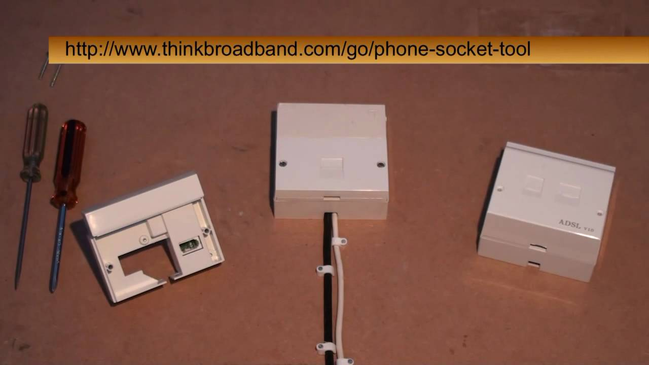 Wiring Diagram Eircom Phone Socket : Installing the bt i plate on an adsl master socket youtube