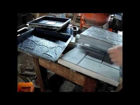 Производство тротуарной плитки дома своими руками. Эксперимент со смазывающим материалом
