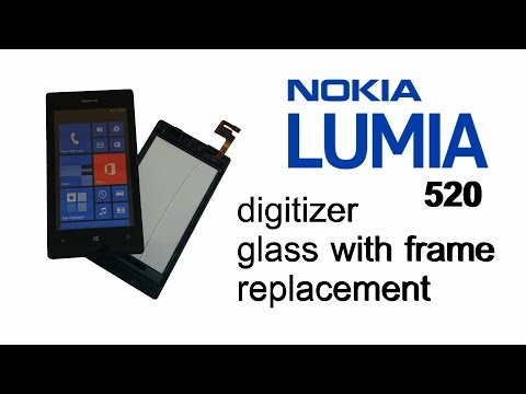 Nokia Lumia 520 / 521 - How to Replace Broken Touch screen Digitizer Glass with Frame
