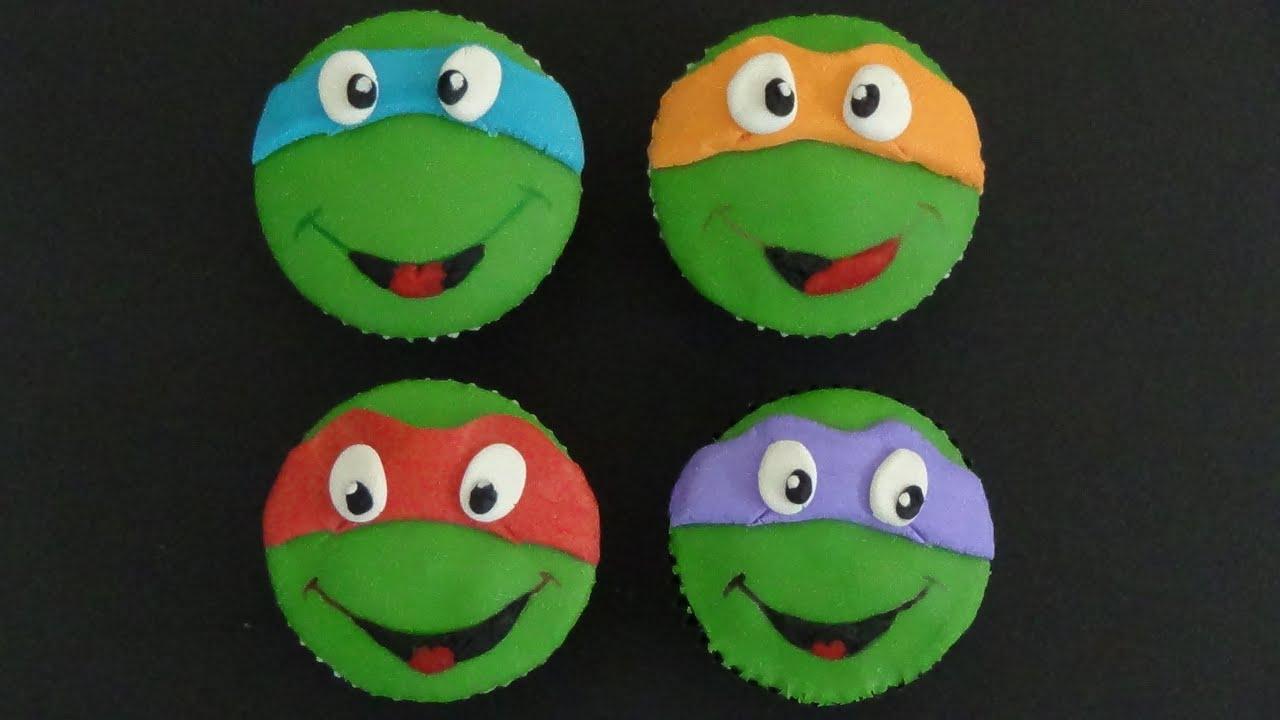 ninja turtles cupcakes - YouTube