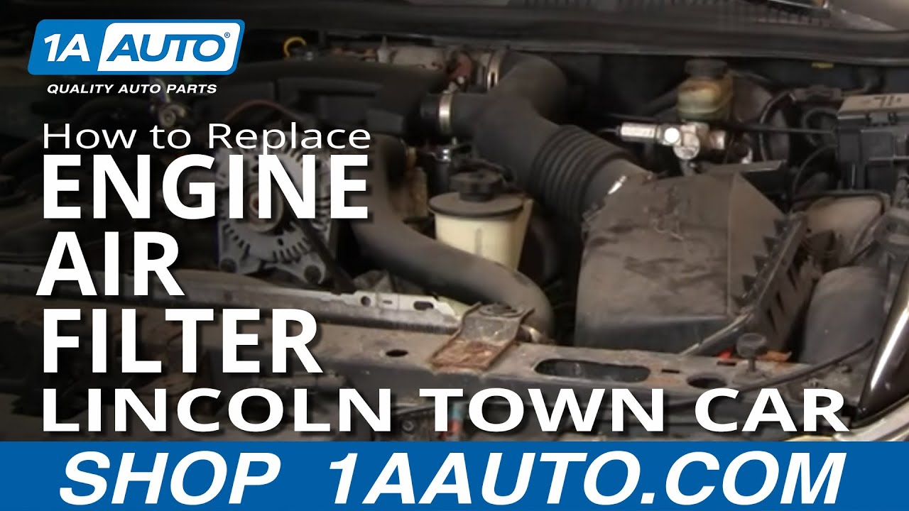 install repair replace  engine air filter lincoln
