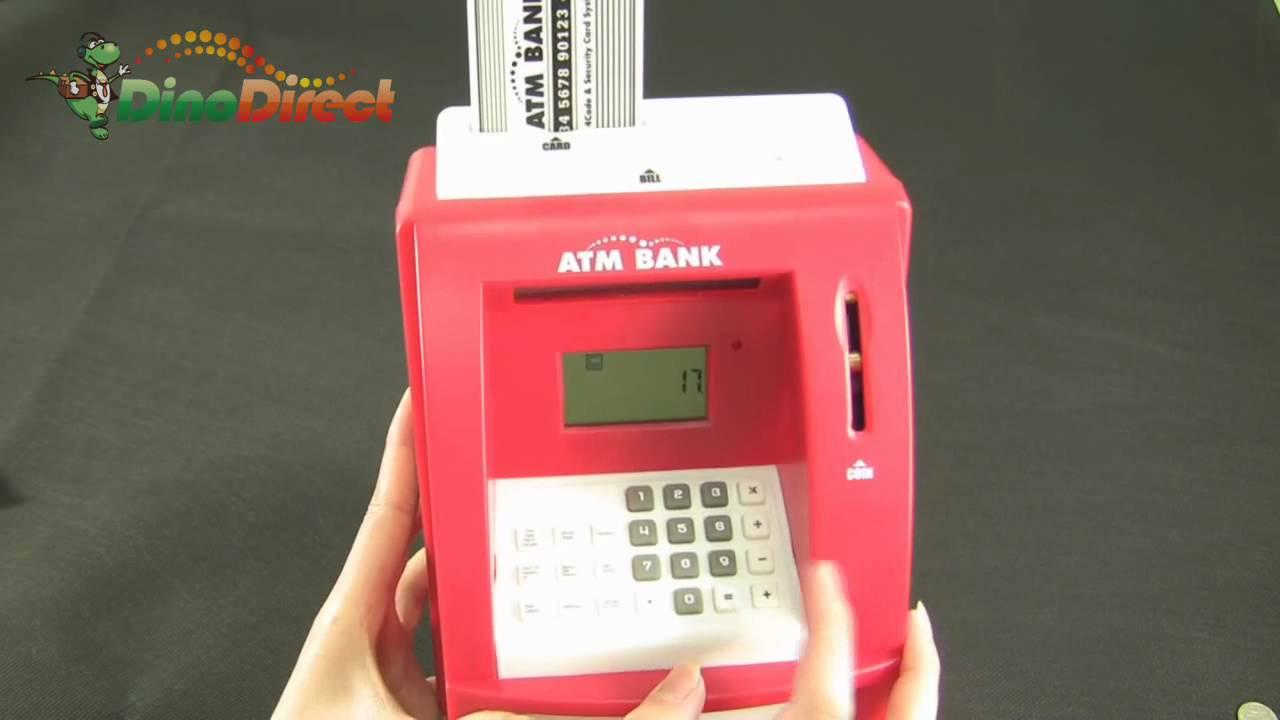 Mini ATM Bank Coin Cash Money Safe Box Dinodirect