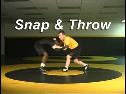 Collar Tie Snap To Arm Throw KOLAT.COM Wrestling Techniques Moves Instruction Image 1