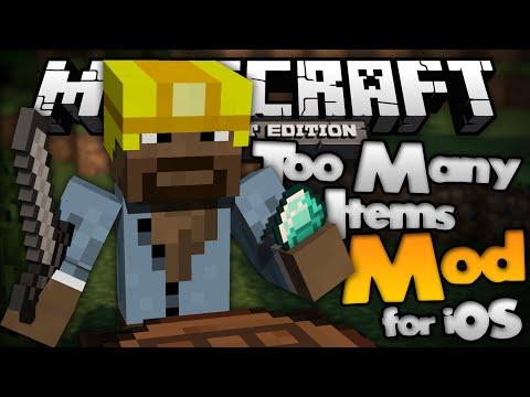 TOO MANY ITEMS for MCPE TMI Mod Minecraft Pocket Edition
