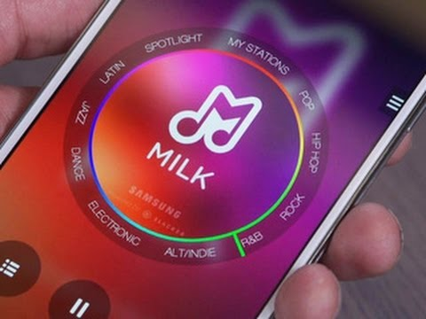 Hands-on With Samsung's Milk Music video
