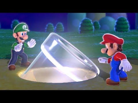 Super Mario 3D World Co-Op (2 Player) Walkthrough - World 1