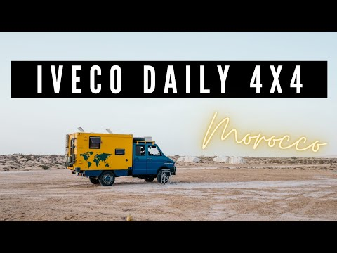 Morocco overland in an adventure mobile Iveco Daily 4x4, 2014.