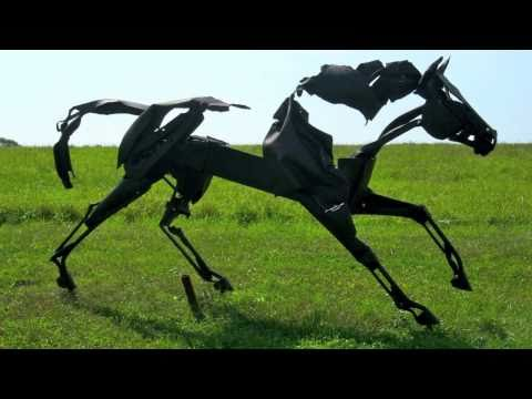 Outdoor Metal Horse Sculptures