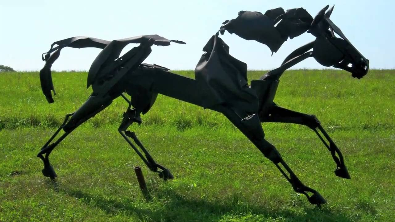 Outdoor Metal Horse Sculptures Youtube
