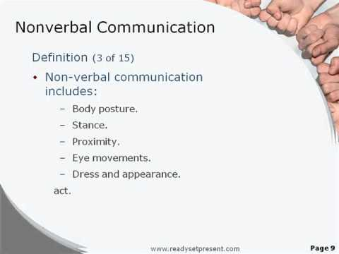Communication Verbale Powerpoint Non Verbal Powerpoint