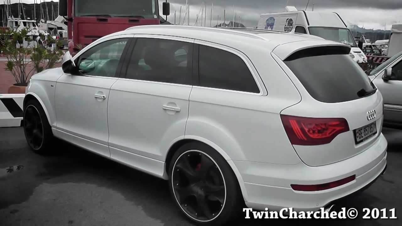 White Audi Q7 Black Rims