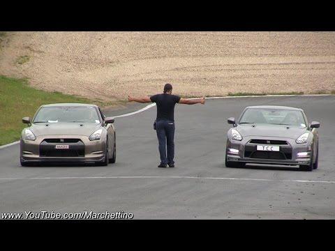 1200hp Nissan GT-R vs 800hp GT-R vs 730hp Audi RS6 Drag Race
