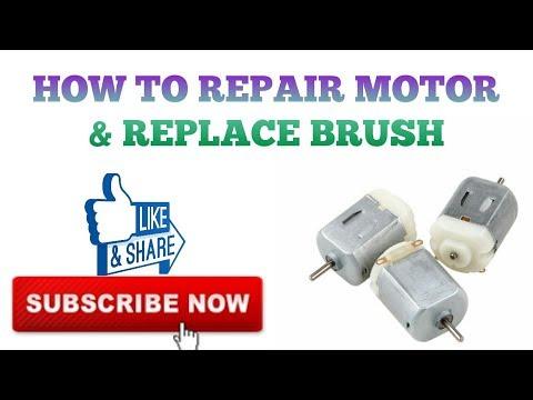 HOW TO REPAIR DC MOTOR AT HOME