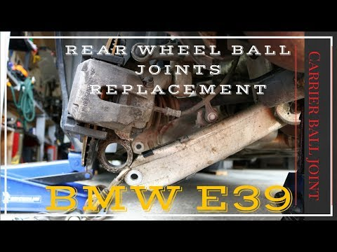BMW e39 Rear wheel ball joints replacement