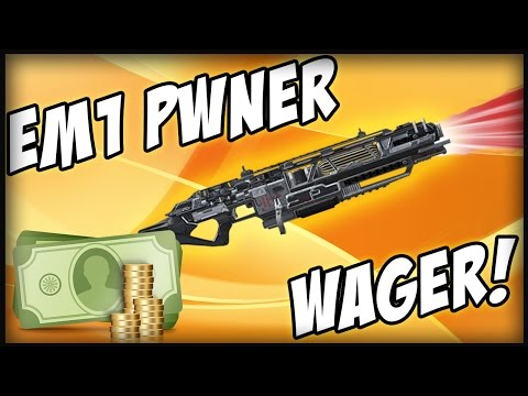 Advanced Warfare - EM1 PWNER LASER ELITE GUN WAGER! *LIVE* (Deleting COD AW Elite Weapon)