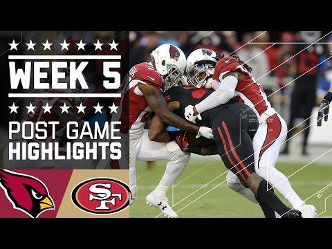 Cardinals Vs 49ers Nfl Week 5 Game Highlights