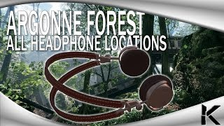 Battlefield 1 - ALL HEADPHONE LOCATIONS! - ARGONNE FOREST (Easter Egg Hunt) - Old Locations