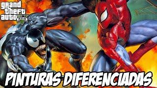 GTA V - Homem Aranha e Venom , Pinturas diferenciadas
