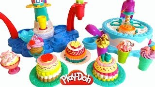 Play Doh Cakes & Ice Creams with Cake Makin
