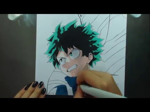Speed Drawing - Midoriya Izuku (Boku no Hero Academia)