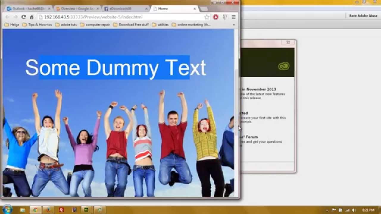 Adobe Muse Websites Adobe Muse Set up For